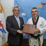 IOC HEAD AWARDED HONORARY WTF 10TH DAN BLACK BELT IN TAEKWONDO
